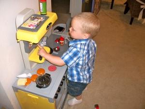 Colt in his Kitchen
