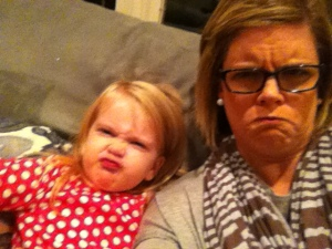 My friend's daughter and I making funny faces for days!